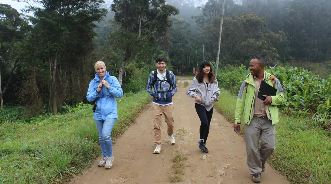 A group of Projects Abroad volunteers explore Madagascar during their French course internships.